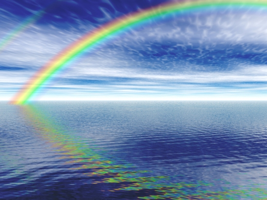 An illustration of a rendered rainbow